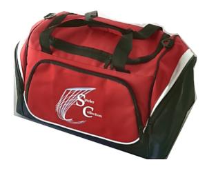 Sporttasche in rot mit Spieler Collection Logo