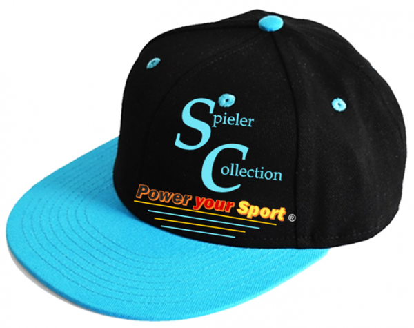 Kappe 6 Panel Pro Cap in Pacific mit Spieler Collection Logo.