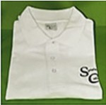 SC Bild Polo Shirt weiß