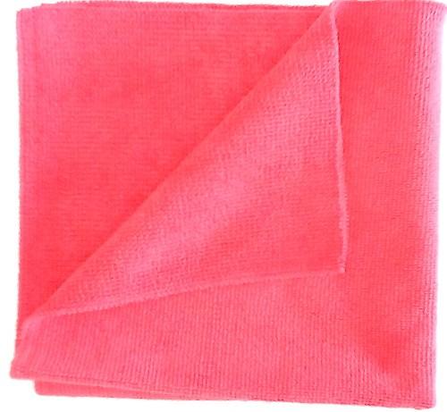 Microfaser Premium Poliertuch in rot.