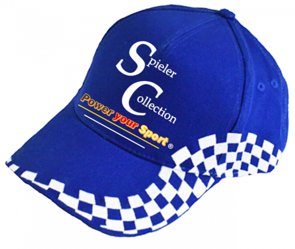 Kappe mit Sportdesign blau mit Power your Sport Logo