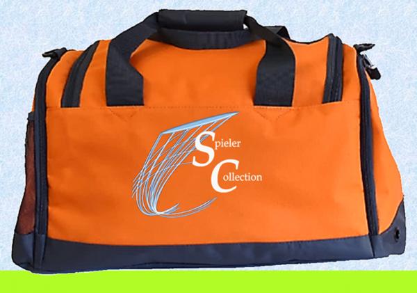 Sporttasche in orange mit Spieler Collection Logo