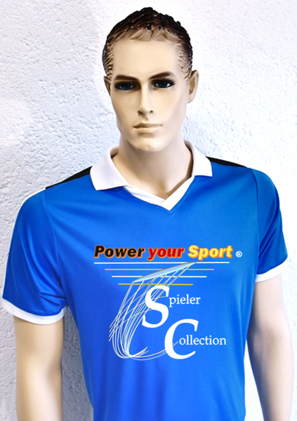 T-Shirt blau Sport mit Spieler Collection