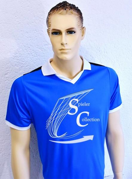 T-Shirt blau Sport mit Spieler Collection