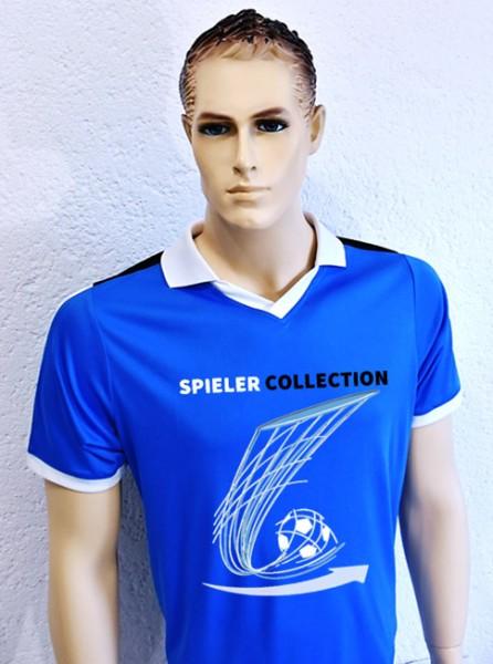 T-Shirt blau Sport mit Fußball