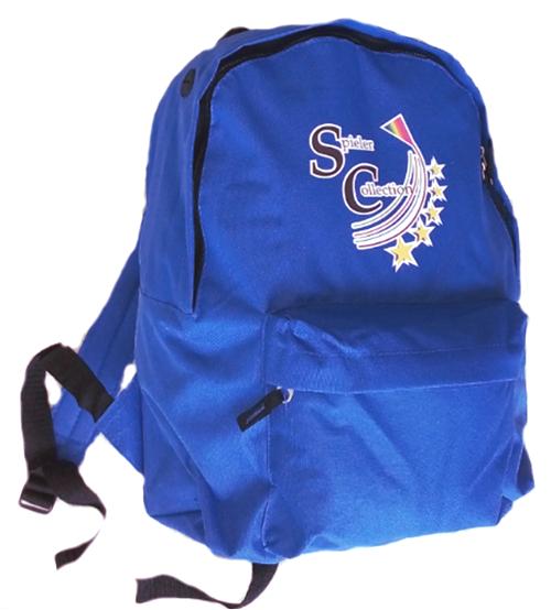 Rucksack in hellblau mit Vorfach