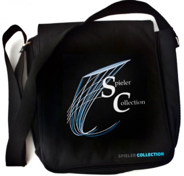 Umhängetasche in schwarz mit Logo