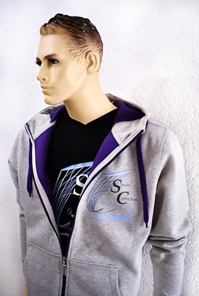Sweatshirt mit Kapuze in grau mit Spieler Collection Logo